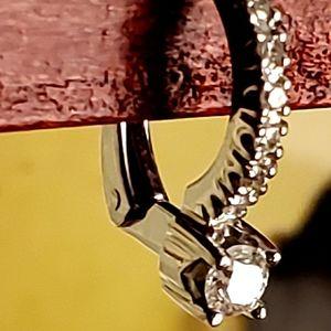 🍁925 SS DAINTY DIAMOND DROP EARRINGS